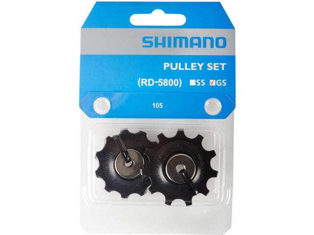 Shimano 105 RD-5800 Jockey Wheel Pulegge per RD-5800-GS 11 velocità, black